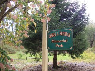 George A Needham Memorial Park Sign